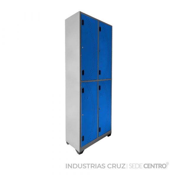 Locker Metálico de 4 Puertas
