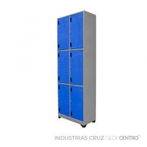 Locker Metálico Vertical de 6 Puertas