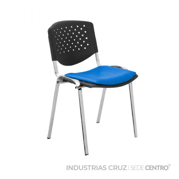 Silla Interlocutora Risma Cromo Tapizada